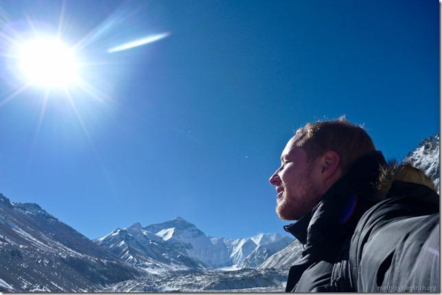 101105_P1020408_China, in Tibet, Mount Everest Region, Sonne, Mount Everest, Mathias