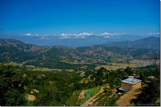 101106_P1020496_Nepal, nach Kathmandu, unterwegs, Ausblick, Himalaya