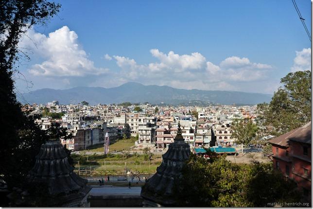 101111_P1020696_Nepal, Kathmandu, nach Boudhanath-Pagode, Aussicht