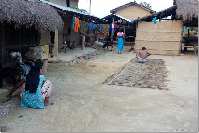 101112_P1020762_Nepal, Chitwan Nationalpark, Dorf, arbeitende Leute