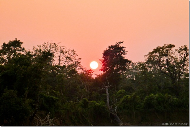 101112_P1020767_Nepal, Chitwan Nationalpark, unterwegs, Sonnenuntergang