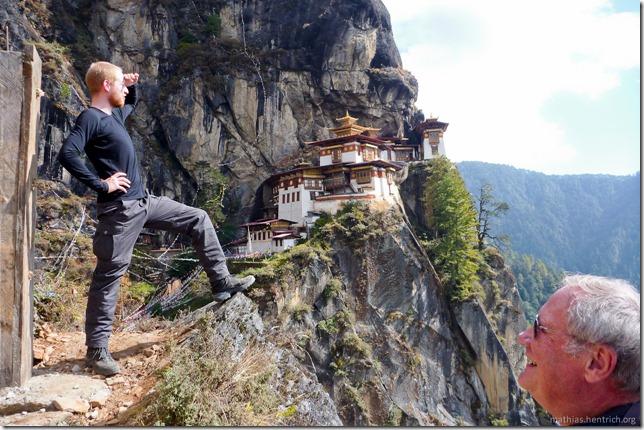 101119_P1030323_Bhutan, Paro, Tigers Nest, Mathias, Ausblick