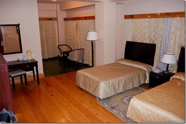 101119_P1030434_Bhutan, Thimphu, Hotel, Zimmer