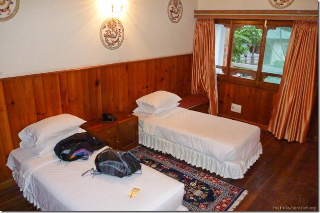 101120_P1030518_Bhutan, Punakha, Hotel, Zimmer